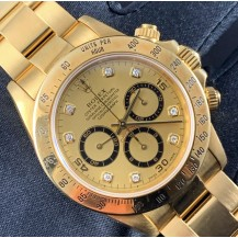 Rolex Daytona Zenith Yellow Gold Diamonds Ref. 16528 FULL SET