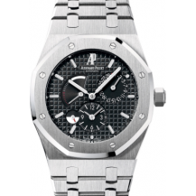 Audemars Piguet Royal Oak Dual Time Black Dial Ref. 26120ST FULL SET