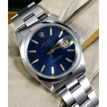 Rolex Oyster Perpetual Date Ref. 15200 Blue Dial FULL SET
